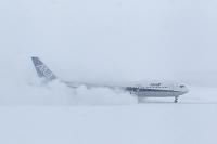 ボーイング767 雪中の着陸 ANA 逆噴射