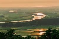山形県 最上川の夕景