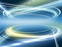 輪を描くリング光線群