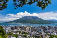 鹿児島県 城山展望台から見た桜島