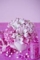 アルストロメリアと紫陽花のアレンジメント