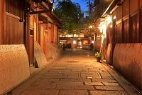 京都府 祇園の夕景