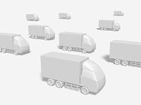 輸送トラックのモノクロ