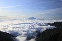 山梨県 北岳 夏の富士山と雲海