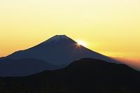 静岡県 富士見平 夜明けの富士山と朝日