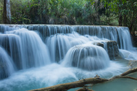 ラオス クアンシー滝
