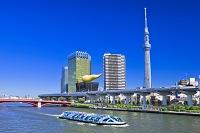 東京都 東京スカイツリーと水上バス「ホタルナ」