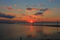 千葉県 夕暮れの江川海岸