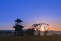 奈良県 朝日と唐古・鍵遺跡