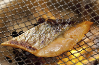 鮭の網焼き
