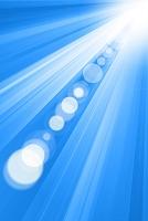 白と青の光線 CG