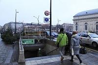 ハンガリー 地下鉄の出入口