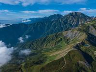 北アルプス 五竜岳と鹿島槍ヶ岳と八方池 長野県