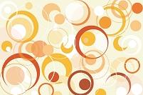 イラスト レトロな円形