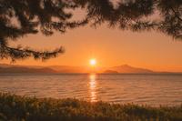 滋賀県 琵琶湖の朝日