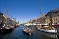 デンマーク コペンハーゲン  ニューハウン運河と街並み