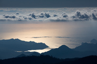 奈良県 三重県 大台ヶ原頂上より熊野灘