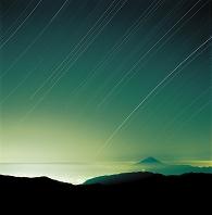 山梨県 富士山 南アルプス北岳からオリオン座