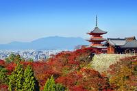 京都府 京都市 秋の清水寺 三重塔