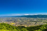 富山県 医王山から見た散居村