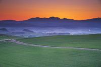 北海道 千望峠より望む朝の大雪山