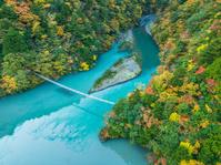寸又峡 夢の吊り橋 紅葉 静岡県