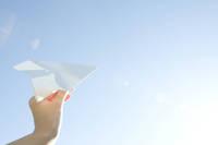 空と紙飛行機