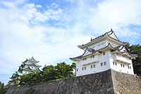 愛知県 名古屋城の西南隅櫓と大天守閣