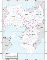 関西地方 白地図