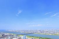 大阪府 河川沿いの街並み