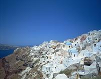 ギリシャ  イアの白い町並み