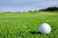 芝の上のゴルフボール