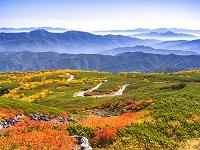 長野県 乗鞍高原 雲海と山並み 位ヶ原と乗鞍エコーライン