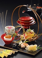和食の前菜とお屠蘇