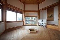 六角堂内部 岡倉天心が思索のために建てた 2013.07.10 茨城県...