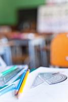 算数の授業中の机