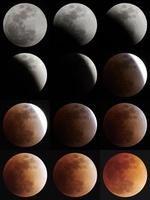 皆既月食の連続写真