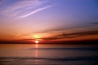福井県 日本海に沈む夕日