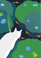 猫と花景7月