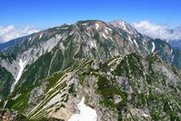 北アルプス・唐松岳山頂から不帰ノ嶮方面望む
