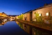 小樽運河の夜景
