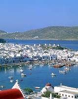 ギリシャ ミコノス島 港