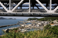 下津井漁港の風景