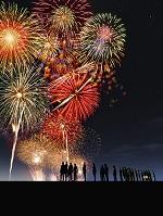 花火を見上げる群衆