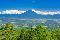 山梨県 富士見平展望台から富士山