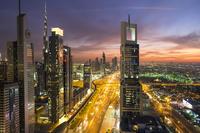 アラブ首長国連邦 ドバイの夜景