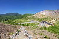 福島県 吾妻小富士の登山道と浄土平