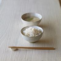 玄米ごはんと味噌汁