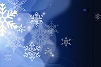 雪の結晶と重なる曲線 CG