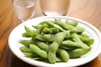 枝豆と冷酒